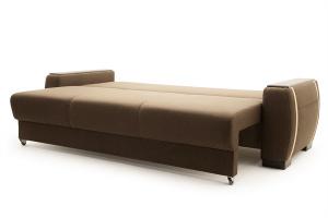 Двуспальный диван Премьер люкс Dream Brown + Savana Camel Спальное место
