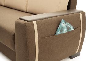Двуспальный диван Премьер люкс Dream Brown + Savana Camel Подлокотник