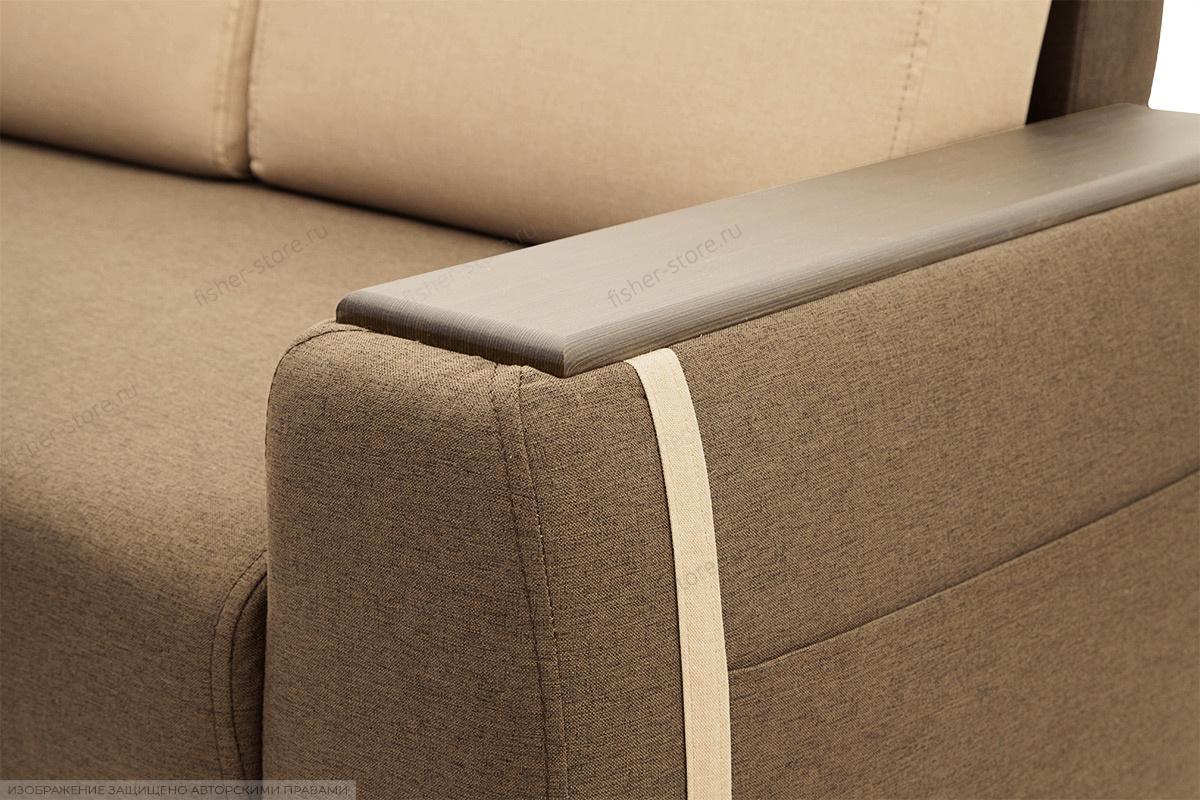 Двуспальный диван Премьер люкс Dream Brown + Savana Camel Текстура ткани