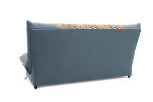 Прямой диван Хилтон-2 вилка Dream Blue + History Bricks Вид сзади