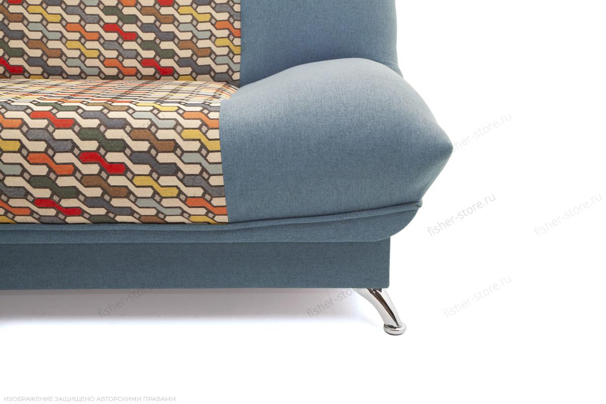 Прямой диван Хилтон-2 вилка Dream Blue + History Bricks Ножки