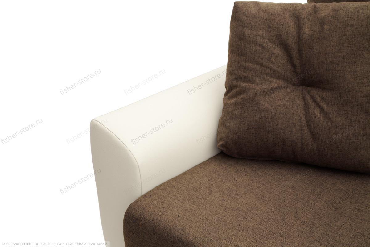 Прямой диван Винтаж Dream Brown + Sontex Milk Подлокотник