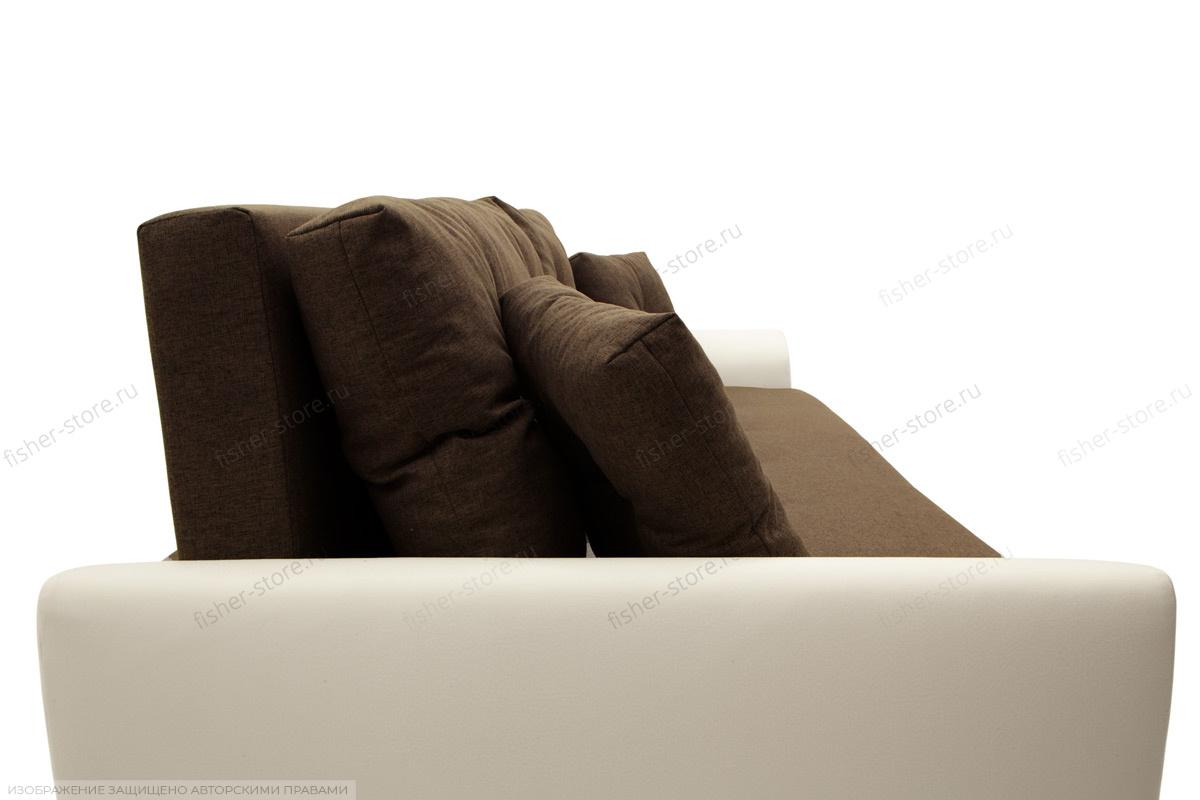 Прямой диван Винтаж Dream Brown + Sontex Milk Подушки