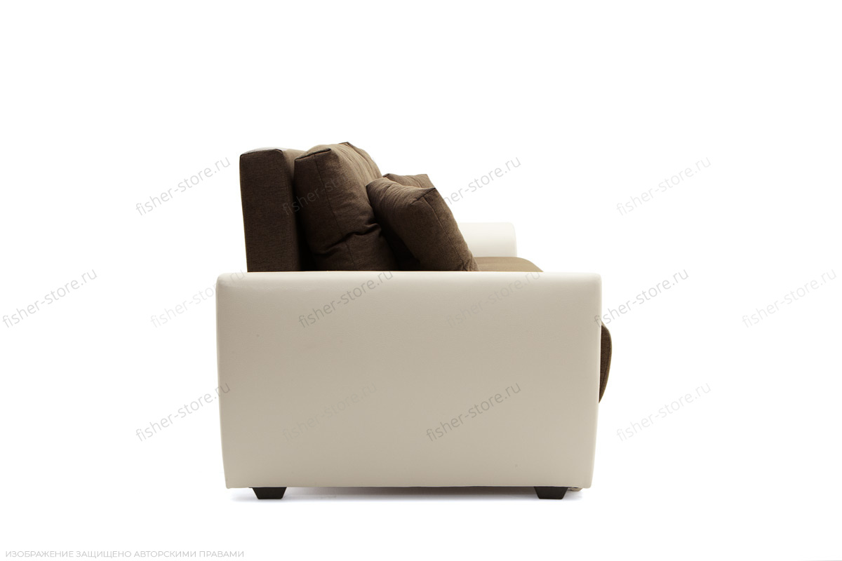 Прямой диван Винтаж Dream Brown + Sontex Milk Вид сбоку