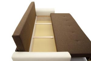 Прямой диван Винтаж Dream Brown + Sontex Milk Ящик для белья