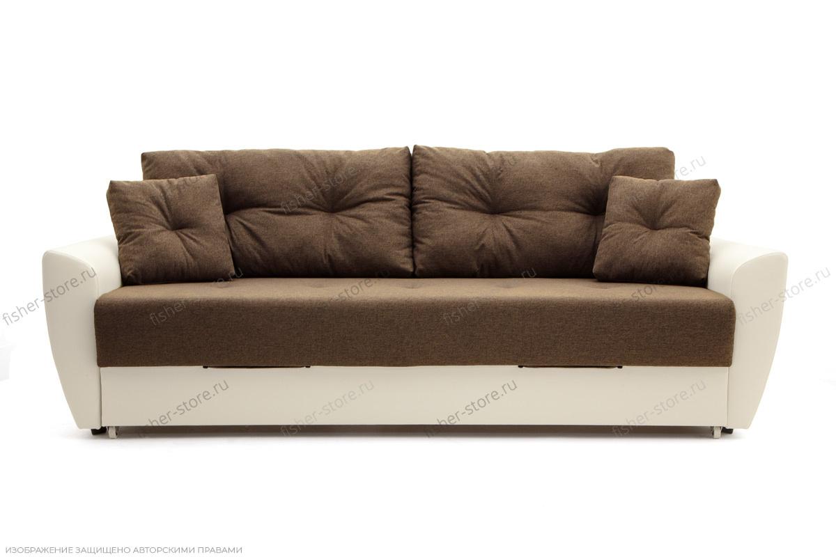 Прямой диван Винтаж Dream Brown + Sontex Milk Вид спереди
