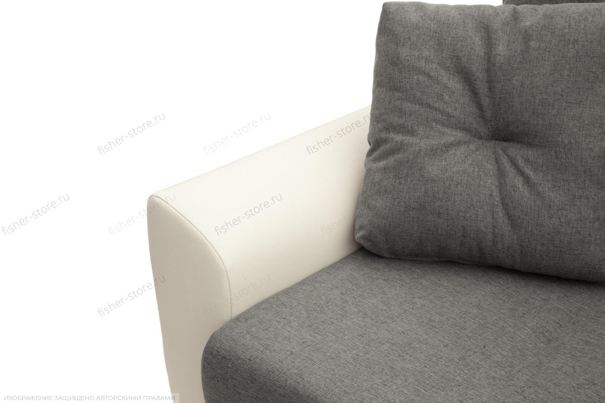 Прямой диван Винтаж Dream Grey + Sontex Milk Подлокотник