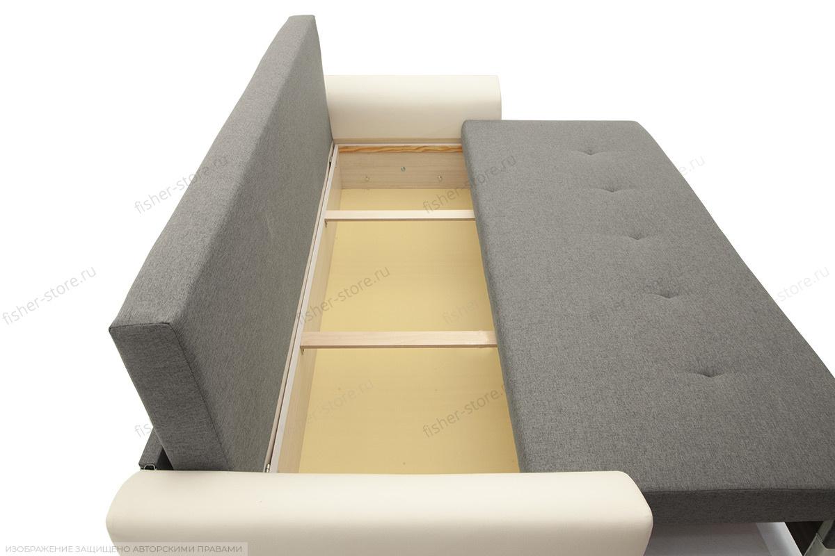 Прямой диван Винтаж Dream Grey + Sontex Milk Ящик для белья