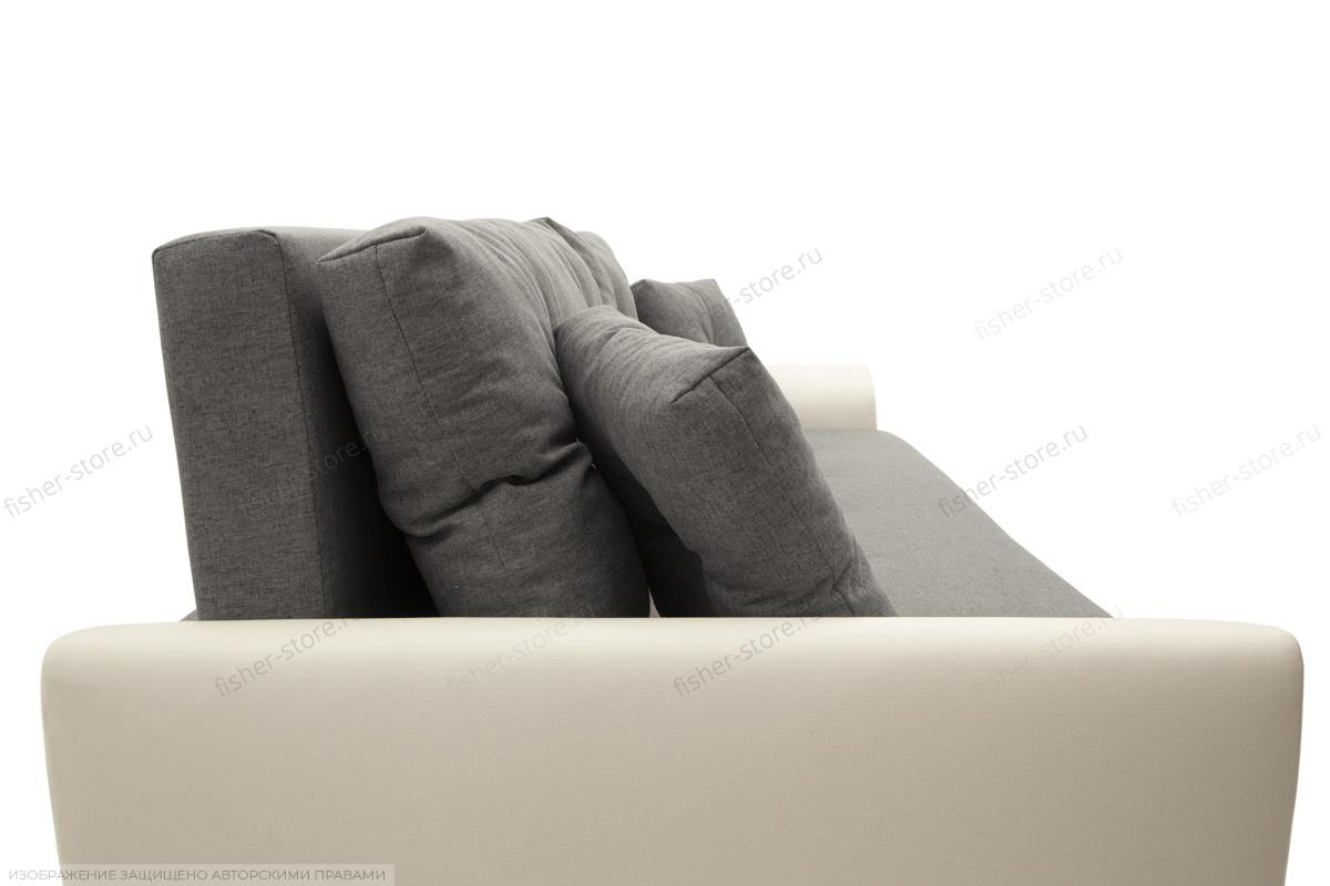 Прямой диван Винтаж Dream Grey + Sontex Milk Подушки