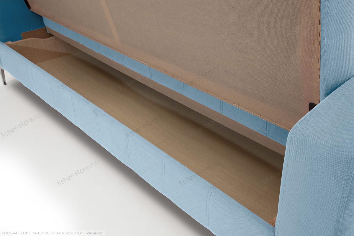 Прямой диван Оскар с опорой №9 Amigo Blue Ящик для белья