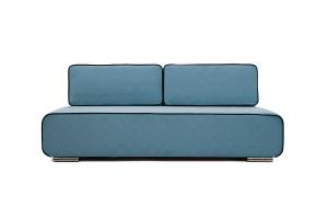 Прямой диван Лаки Maserati  Blue + Black Вид спереди