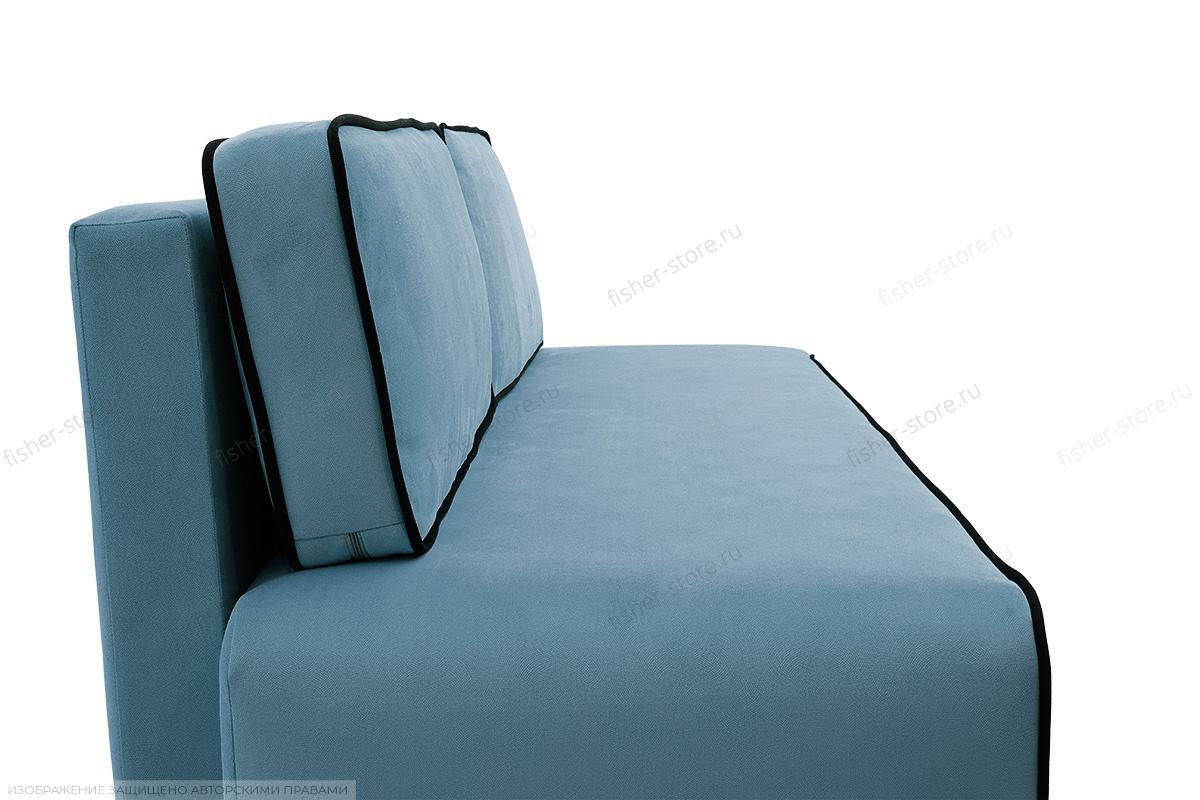 Прямой диван Лаки Maserati  Blue + Black Подушки