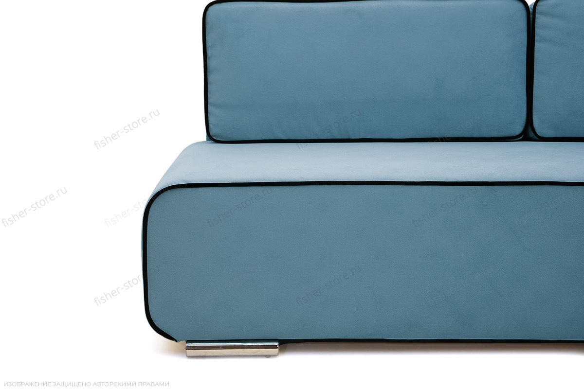 Прямой диван Лаки Maserati  Blue + Black Ножки