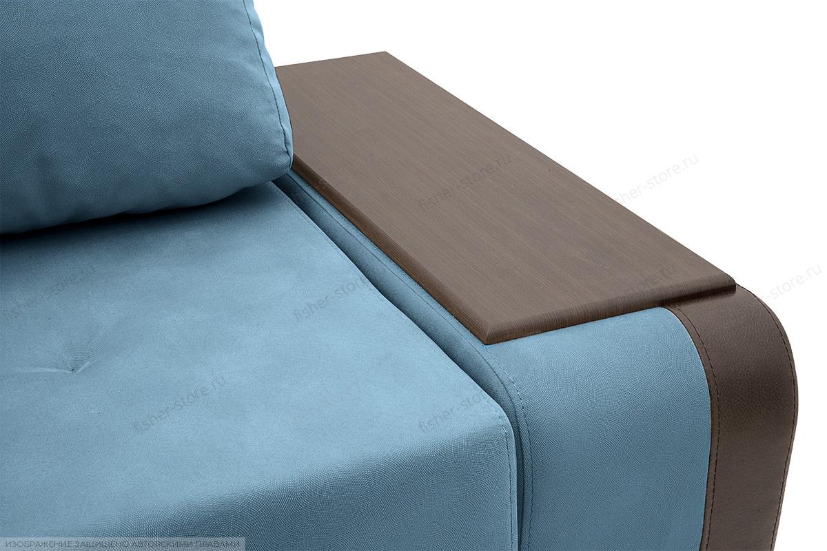 Двуспальный диван Нью-Йорк-2 Maserati  Blue + Sontex Umber Подлокотник