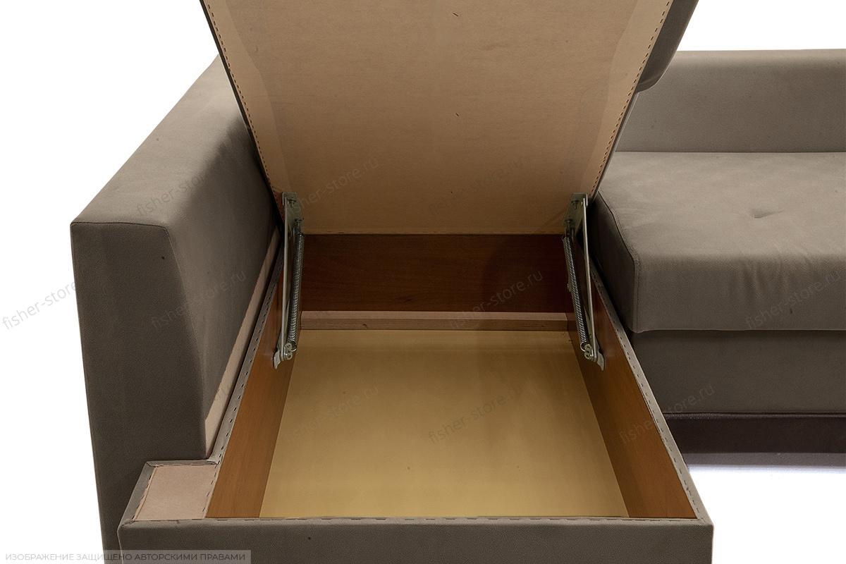Угловой диван Нью-Йорк-2 Maserati Gray-Beight + Sontex Umber Ящик для белья