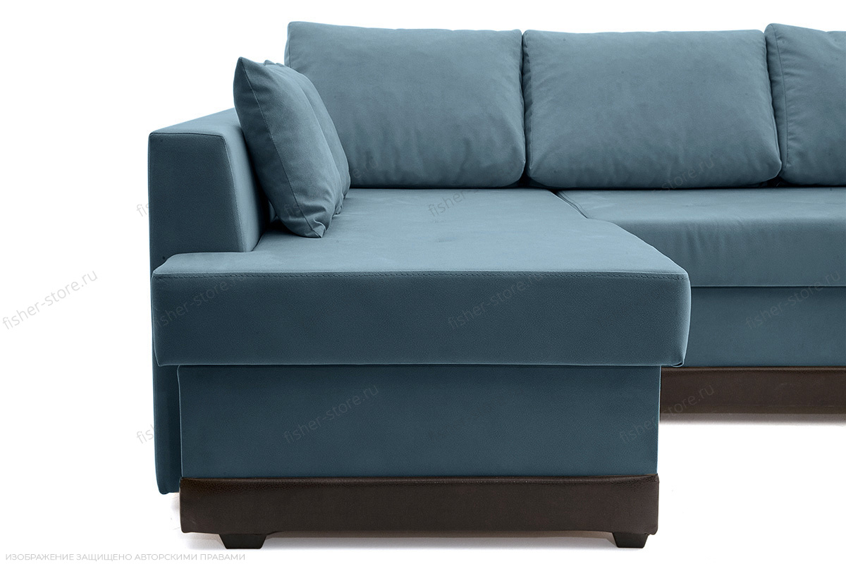 Двуспальный диван Нью-Йорк-2 Maserati  Blue + Sontex Umber Ножки