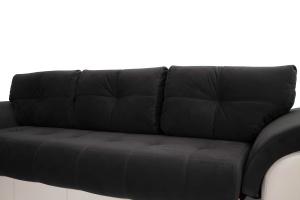 Прямой диван Соренто Maserati Black + Sontex Beige Подушки