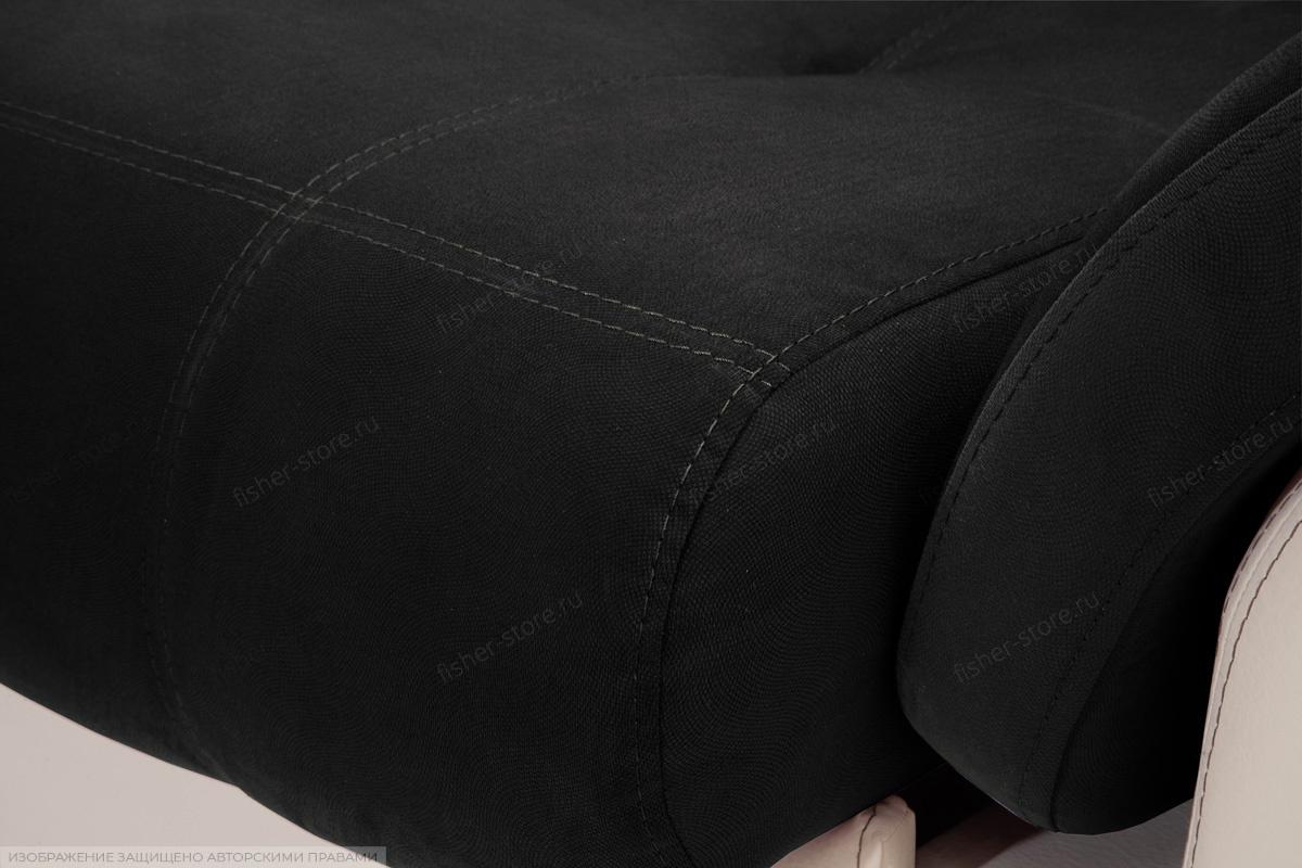Прямой диван Соренто Maserati Black + Sontex Beige Текстура ткани