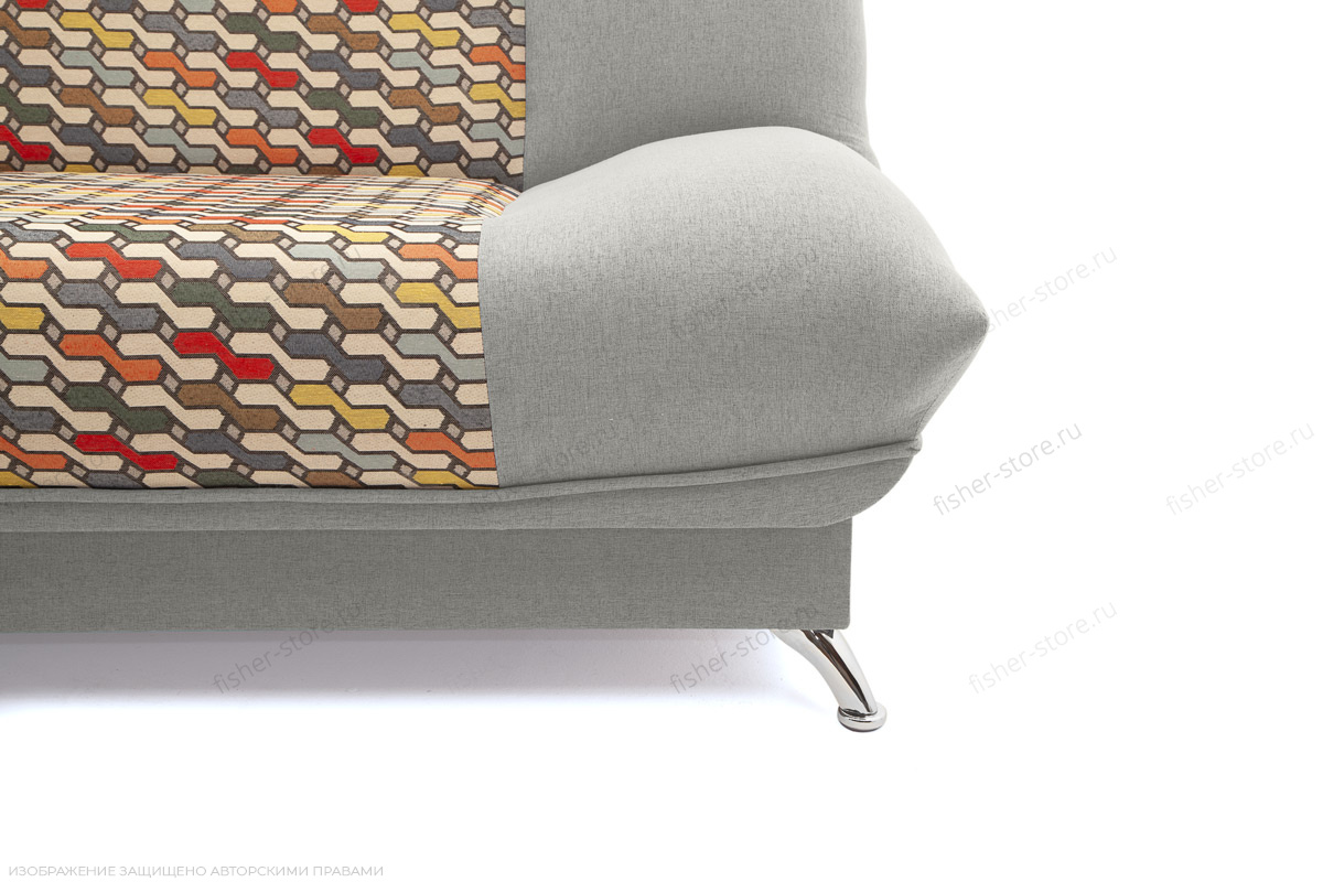 Прямой диван Хилтон-2 вилка Dream Light grey + History Bricks Ножки