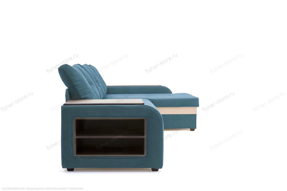 Угловой диван Парадиз Maserati  Blue + Beight Вид сбоку