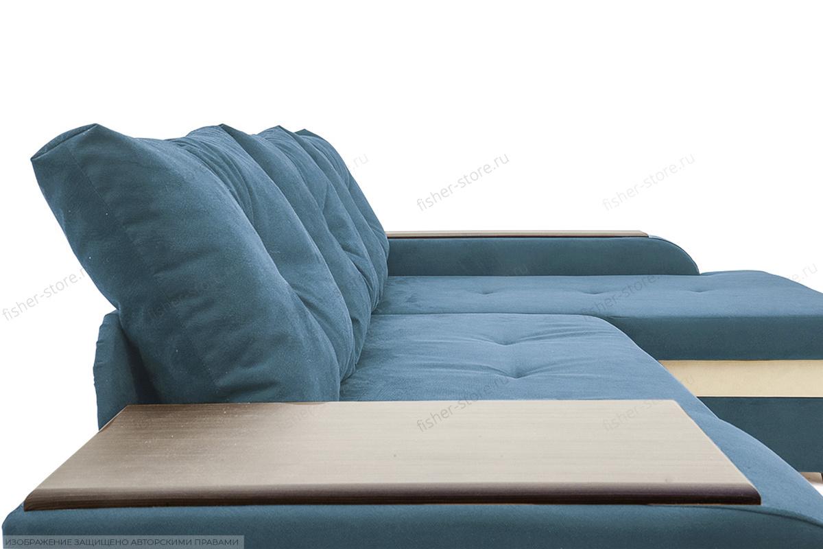 Угловой диван Парадиз Maserati  Blue + Beight Подушки