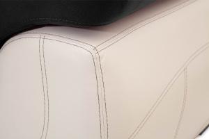 Прямой диван Соренто Maserati Black + Sontex Beige Подлокотник