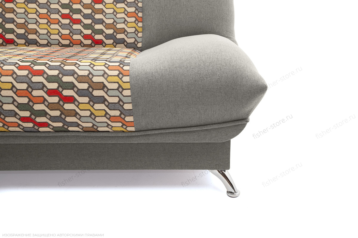 Прямой диван Хилтон-2 вилка Dream Grey + History Bricks Ножки