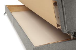 Прямой диван Хилтон-2 вилка Dream Grey + History Bricks Ящик для белья