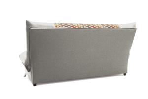 Двуспальный диван Хилтон-2 вилка Dream Grey + History Bricks Вид сзади