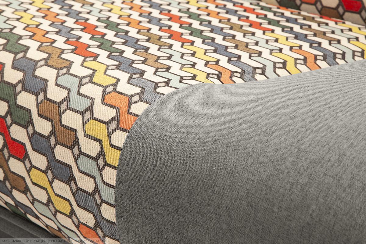 Прямой диван Хилтон-2 вилка Dream Grey + History Bricks Текстура ткани
