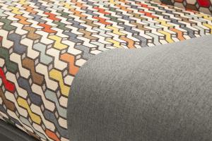 Двуспальный диван Хилтон-2 вилка Dream Grey + History Bricks Текстура ткани