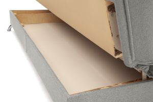 Прямой диван Хилтон-2 вилка Dream Light grey + History Bricks Ящик для белья