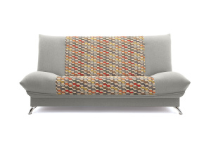 Прямой диван Хилтон-2 вилка Dream Light grey + History Bricks Вид спереди