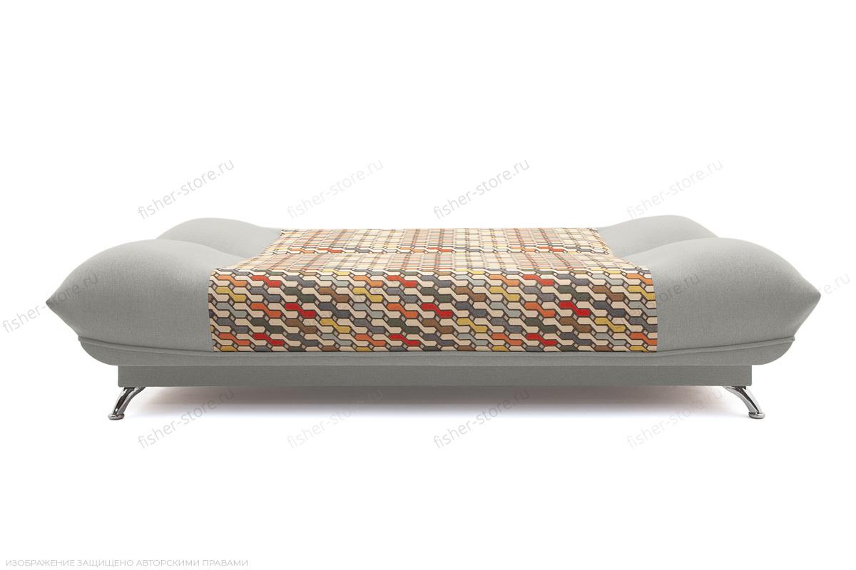 Прямой диван Хилтон-2 вилка Dream Light grey + History Bricks Спальное место
