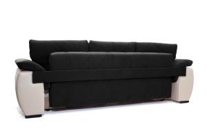 Прямой диван Соренто Maserati Black + Sontex Beige Вид сзади