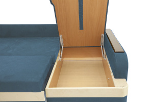 Угловой диван Парадиз Maserati  Blue + Beight Ящик для белья