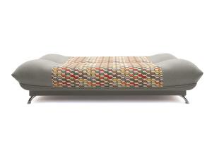 Прямой диван Хилтон-2 вилка Dream Grey + History Bricks Спальное место