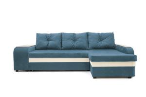 Угловой диван Парадиз Maserati  Blue + Beight Вид спереди
