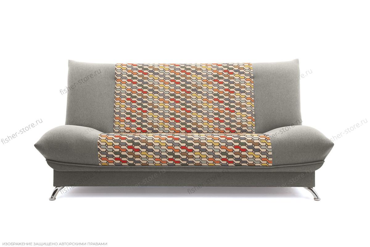 Прямой диван Хилтон-2 вилка Dream Grey + History Bricks Вид спереди