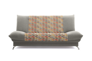 Двуспальный диван Хилтон-2 вилка Dream Grey + History Bricks Вид спереди