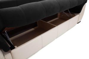 Прямой диван Соренто Maserati Black + Sontex Beige Ящик для белья