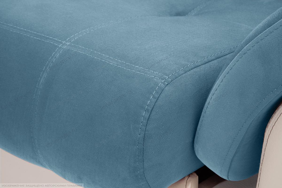 Прямой диван Соренто Maserati Blue + Sontex Beige Текстура ткани