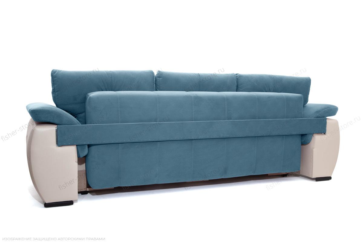 Прямой диван Соренто Maserati Blue + Sontex Beige Вид сзади