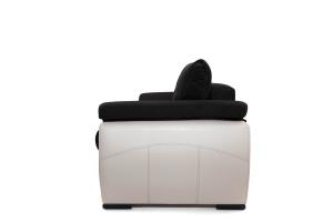 Прямой диван Соренто Maserati Black + Sontex Beige Вид сбоку
