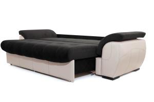 Прямой диван Соренто Maserati Black + Sontex Beige Спальное место