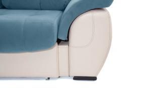 Прямой диван Соренто Maserati Blue + Sontex Beige Ножки