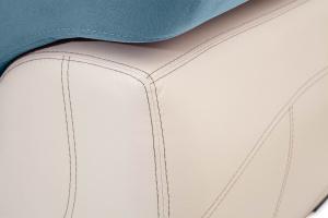 Прямой диван Соренто Maserati Blue + Sontex Beige Подлокотник