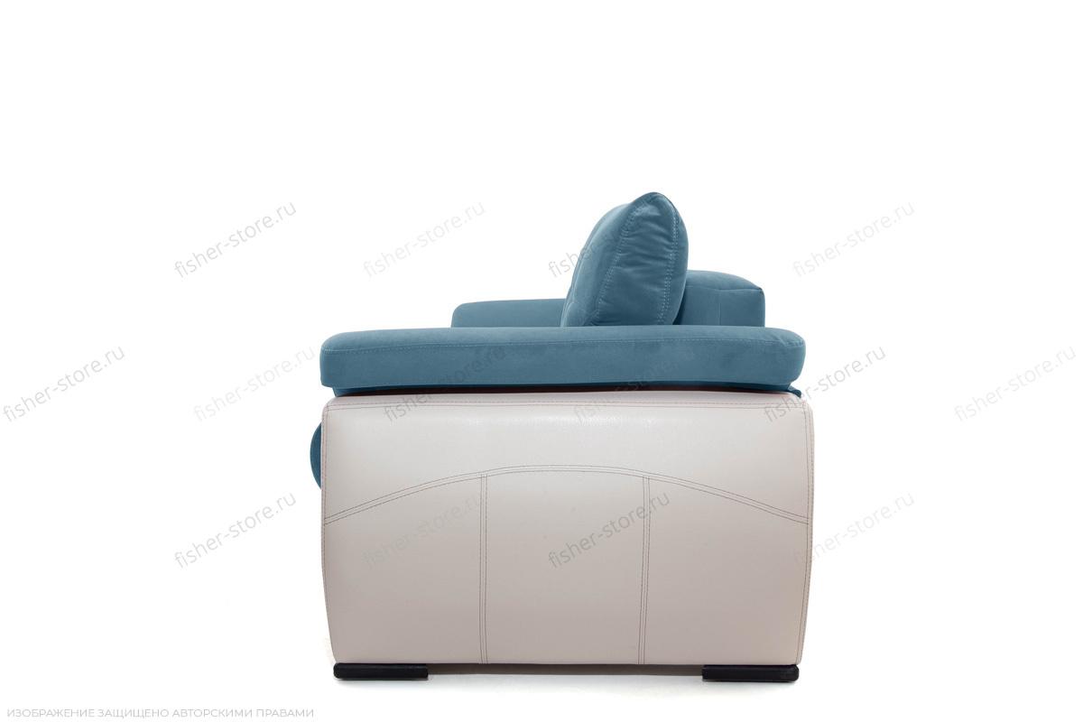 Прямой диван Соренто Maserati Blue + Sontex Beige Вид сбоку