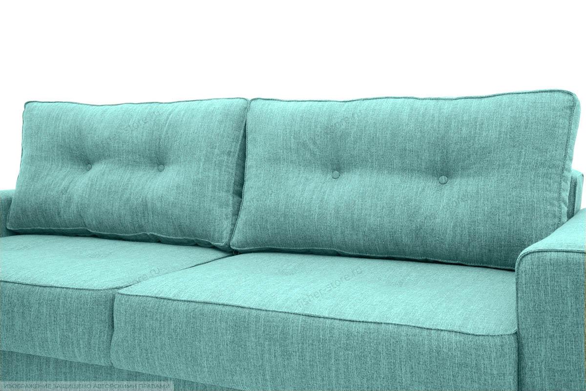 Прямой диван Джерси-5 с опорой №4 Orion Blue Подушки