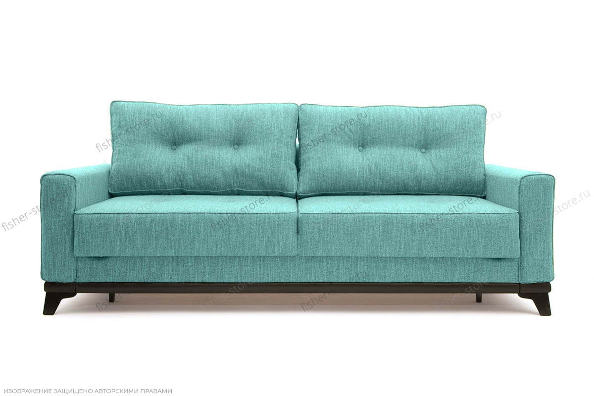 Прямой диван Джерси-5 с опорой №4 Orion Blue Вид спереди